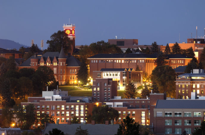 Washington State University Campus - Night